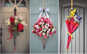 Варианти за украси на входната врата
