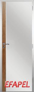 Алуминиева врата от серия Ефапел - цвят Императорска акация