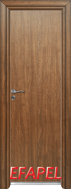 Алуминиева врата Ефапел - цвят Императорска акация