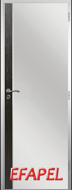 Алуминиева врата от серия Ефапел - цвят Черна мура