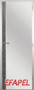 Алуминиева врата от серия Ефапел - цвят Сив ясен