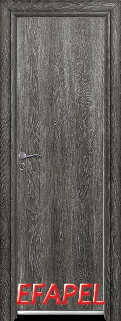 Алуминиева врата Ефапел - цвят Сив ясен
