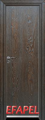 Алуминиева врата Ефапел - цвят Палисандър